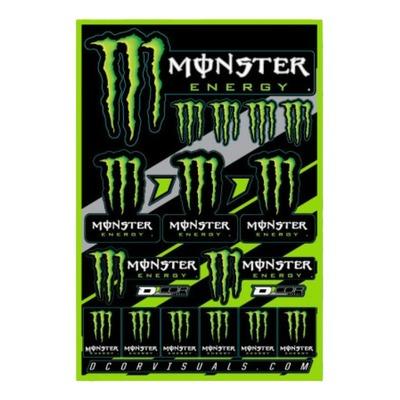Planche d'autocollants D'cor Monster Energy