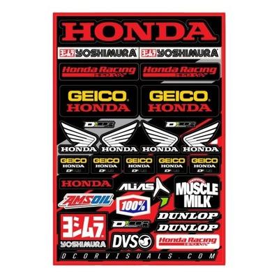 Planche d'autocollants D'cor Team Honda Geico