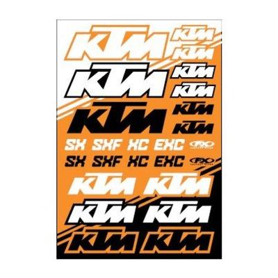 Planche d'autocollants Factory Effex KTM SX/SXF