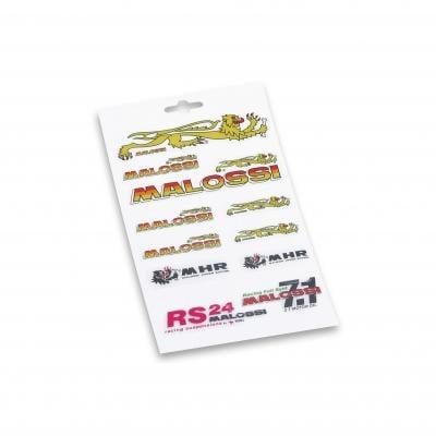 Planche d'autocollants Malossi 13,3x23,3