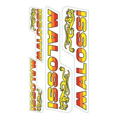 Planche d'autocollants Malossi 8x14 cm