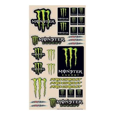 Planche d'autocollants Monster Pro Circuit
