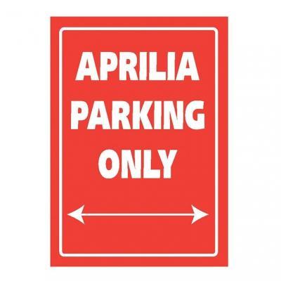 Plaque de parking Aprilia parking only
