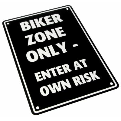Plaque de parking Biker Zone Only