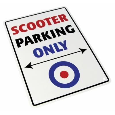 Plaque de parking Scooter parking only