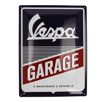 Plaque métallique Vespa Garage (30x40mm)
