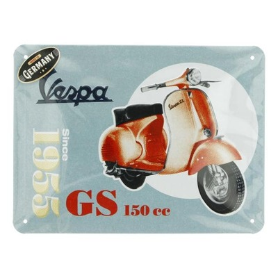 Plaque métallique Vespa GS150 since 1955 (15x20mm)
