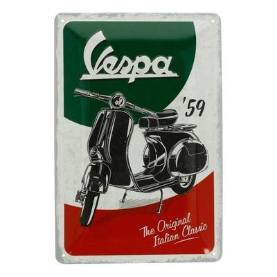 Plaque métallique Vespa Italian Classic (20x30mm)