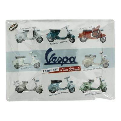 Plaque métallique Vespa Model Chart (30x40mm)