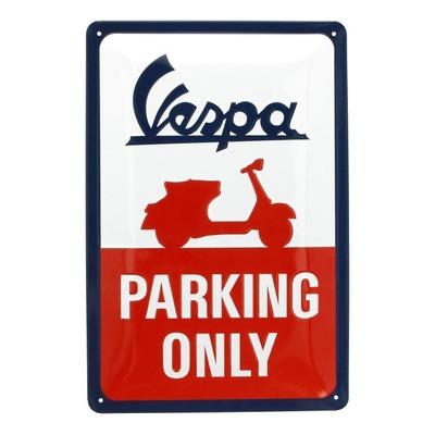 Plaque métallique Vespa Parking Only (20x30mm)