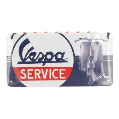 Plaque métallique Vespa Service (10x20mm)