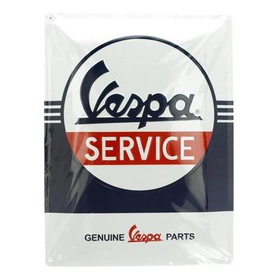 Plaque métallique Vespa Service (30x40mm)