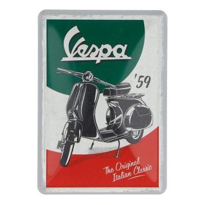 Plaque métallique Vespa The Italian Classic (carte postale)