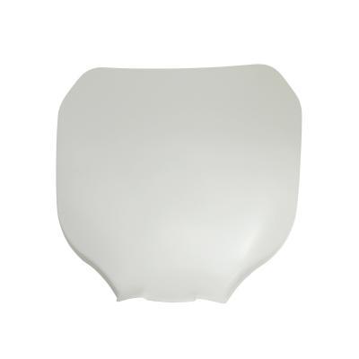 Plaque numéro frontale Replay blanche avec fixation