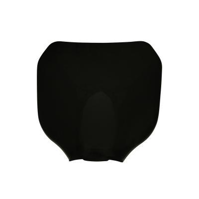 Plaque numéro frontale Replay noir avec fixation