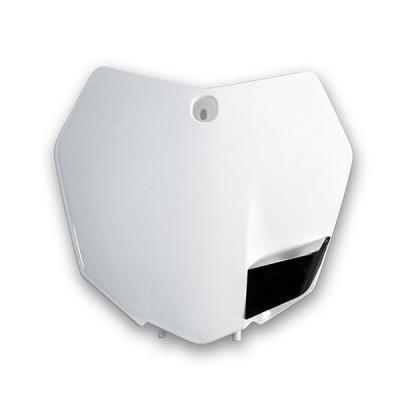 Plaque numéro frontale UFO KTM 125 SX 13-15 blanc
