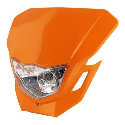 Plaque phare Bike Tek orange