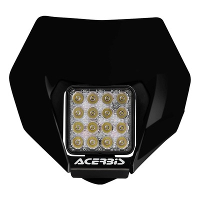 Plaque phare Led Acerbis VSL noir (optique adaptable)