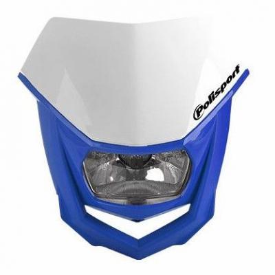 Plaque phare Polisport Halo blanc/bleu Yamaha 98