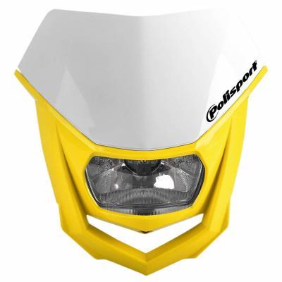 Plaque phare Polisport Halo blanc/jaune