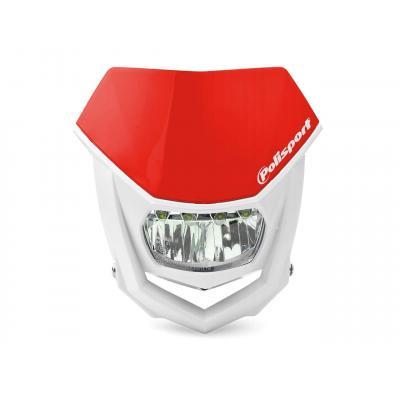 Plaque phare Polisport Halo LED rouge/blanc
