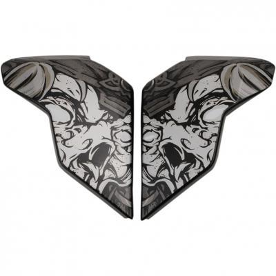 Plaques latérales Icon pour casque Airflite Krom noir
