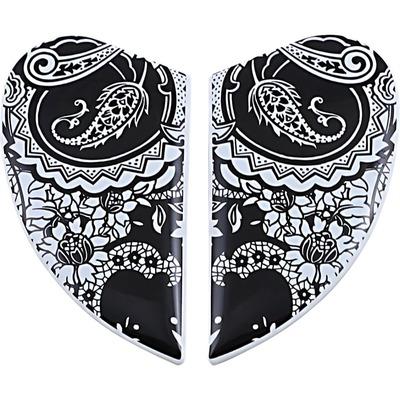 Plaques latérales Icon pour casque Airform Chantilly blanc /noir mat