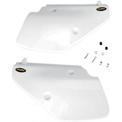 Plaques latérales Maier USA Suzuki DR 250S 90-92 blanc