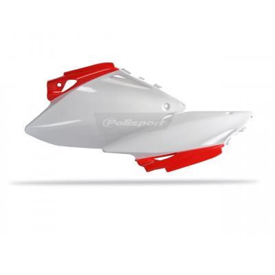 Plaques latérales Polisport Honda CRF 450R 07-08 (rouge/blanc origine)