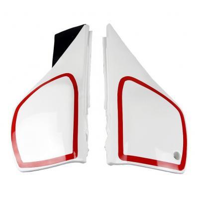 Plaques numéro latérales UFO Yamaha 600 TT 84-91 blanc/rouge (blanc yamaha)