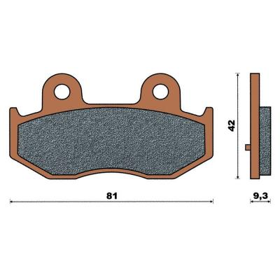 Plaquette de frein céramique arrière Burgman 250/400