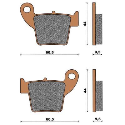 Plaquette de frein céramique arrière CRE/CRF 250/400