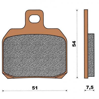 Plaquette de frein céramique arrière Majesty 125/150/180