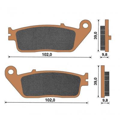 Plaquette de frein céramique arrière X-Citing 400/500