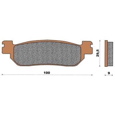 Plaquette de frein céramique arrière X-Max 250