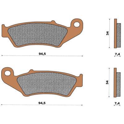 Plaquette de frein céramique avant CRE 125