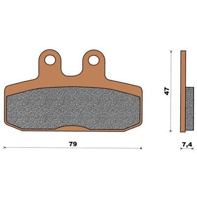 Plaquette de frein céramique avant Scarabeo 400/500