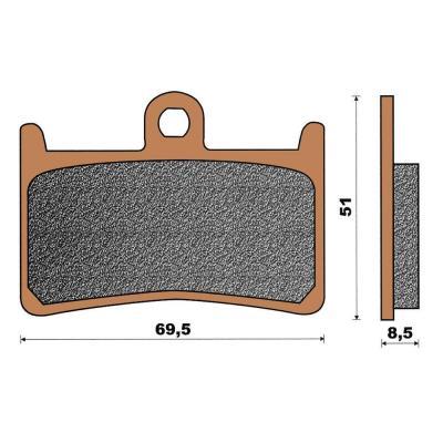 Plaquette de frein céramique avant T-Max 500/530
