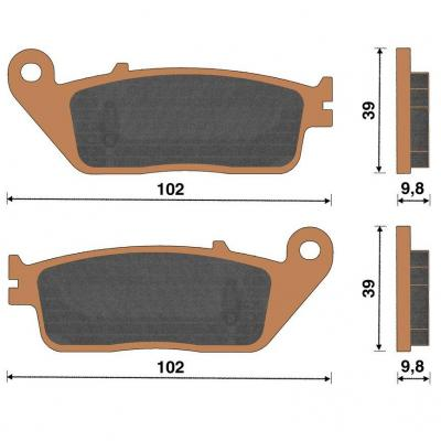 Plaquette de frein céramique avant X-Max 125/250