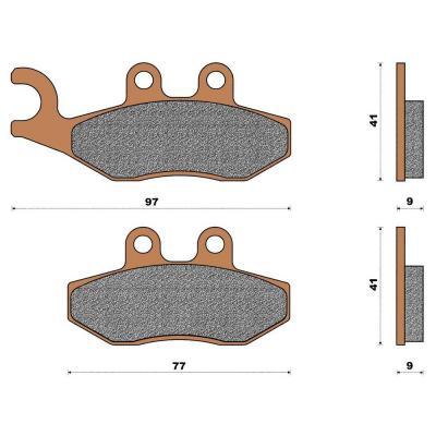 Plaquette de frein céramique avant X8/X9 Evolution
