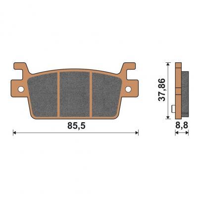 Plaquettes de frein arrière racing Kymco AK550