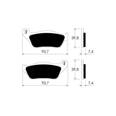 Plaquettes de frein avant MBK Skycruiser / Yamaha X-Max 125 06-09