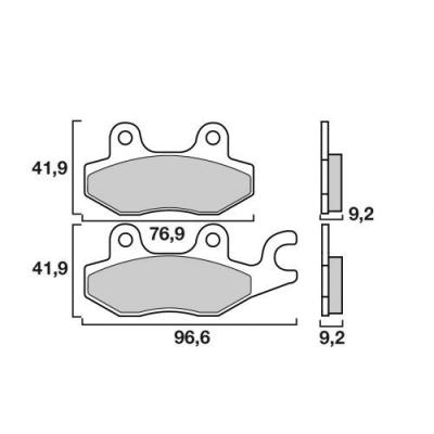 Plaquettes de frein Brembo 07033XS métal fritté arrière