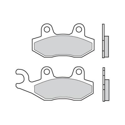 Plaquettes de frein Brembo 07076CC carbone céramique avant