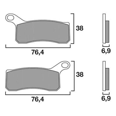 Plaquettes de frein Brembo 07GR07SD métal fritté