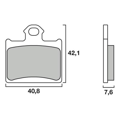 Plaquettes de frein Brembo 07GR16SD métal fritté