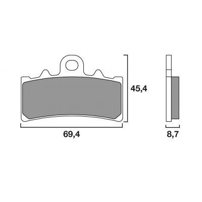 Plaquettes de frein Brembo 07GR18SA métal fritté route