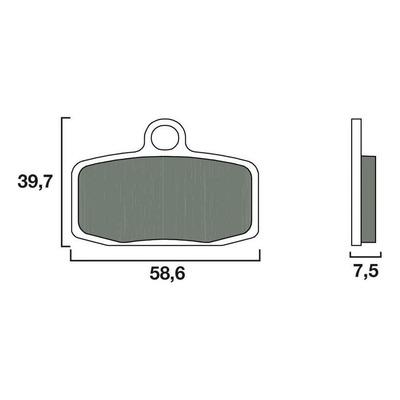 Plaquettes de frein Brembo 07GR20SD métal fritté