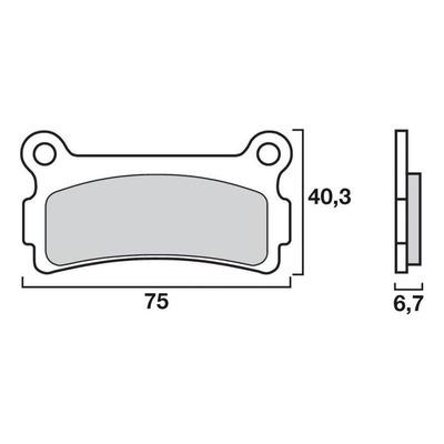 Plaquettes de frein Brembo 07GR5705 carbone céramique