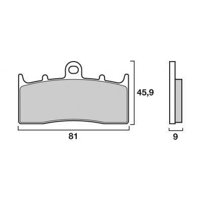 Plaquettes de frein Brembo 07GR6207 organique